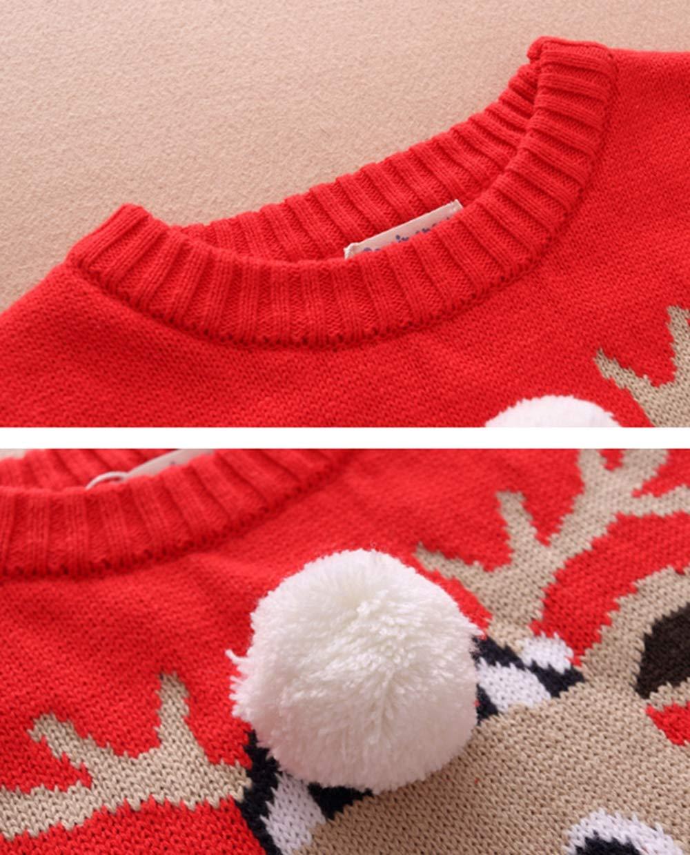 Toctax Suéter de Bebé Navidad Dibujos Animados de Jersey de Navidad Bordado Prendas de Punto Espesar Suéter Jersey de… 4