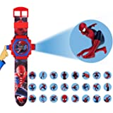 24 images spiderman projector watch for kids, birthday return gift- Multi color