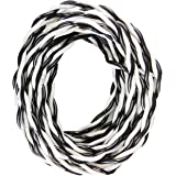 Insta buyz OXCORD 2 Core Flexible Copper Wires and Cables 30/76 (5 m, Black and White) for Domestic and Industrial…