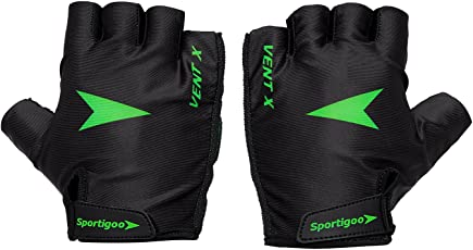 Sportigoo Vent-X Cycling Gloves - Black/Green