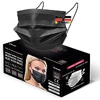 HARD 50x OP Maske Schwarz, Made in Germany, CE zertifiziert, Medizinischer Mundschutz, MNS TYP I EN-14683, 3-lagig…