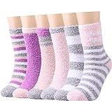 Toes Home Caldi e soffici calzini da donna - Caldi e confortevoli per l'inverno, super soffici per la casa e il letto, con gr