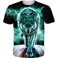 ALISISTER Unisexe 3D Marrant T-Shirt Imprimé Hommes Femme Été Graphique À Manches Courtes Tee Shirts Tops S-3XL