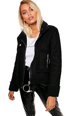 Veste en dain noir femme