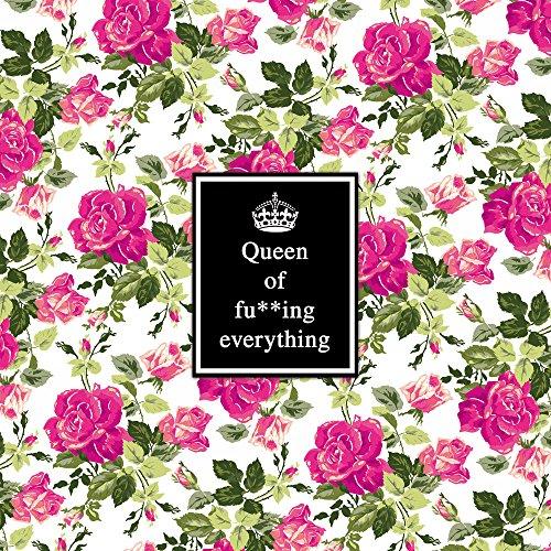 Apple iPhone 5 Housse Outdoor Étui militaire Coque Reine Phrases Motif fleurs Sac Downflip noir