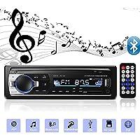 Andven Autoradio Bluetooth, 4x60W FM Radio Voiture 1 Din, Récepteur Bluetooth Mains Libres avec Intégré EQ, Soutient AUX…