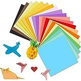 Papel Para Papiroflexia 100 Hojas,Papel de Origami15 x 15 cm20 Colores,Uadrado Color Papel Plegable,Papel Origami Doble Cara
