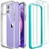 ESR Funda Compatible con iPhone 12 Mini 5.4''2020 con 2 Protector de Pantalla, Carcasa Anti-Amarillea y Anti-Arañazos, Funda