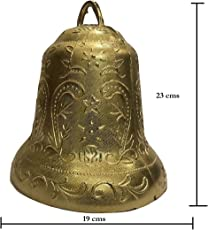 SPHINX Golden Colored Plastic Bells for Crafts/Decoration/Festive Decor (Check Sizes Carefully) - (10, A60R)