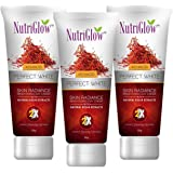 NutriGlow Set Of 3 Natural Kesar Brightening - Skin Radiance/Instant Face Glowing Fairness Solution - Ultimate Combo…