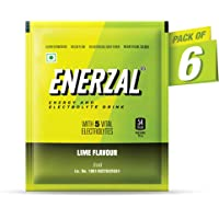 Enerzal Energy Drink Powder Lime Flavour 50 GM (Pack of 6)