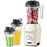 Blender Smoothie, Hauswirt 1200W Professionnel Mixeur Blender Puissant Multifonction avec 3 Programmes Prédéfinis pour Milk-S
