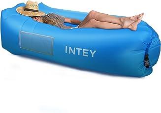 INTEY Aufblasbares Sofa Liege, Wasserdichtes Luft Sofa Couch mit dem kreativen Kissen Air Sofa mit Tragtasche für Meer, Strand, Schwimmbad, Reisen, Urlaub und Camping