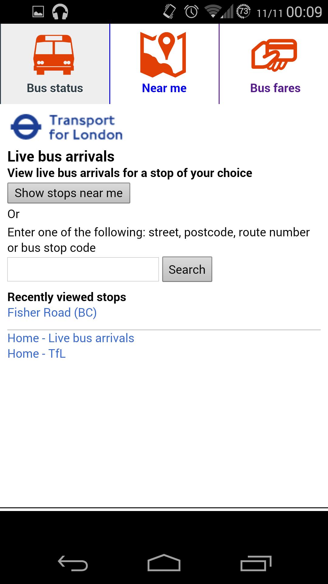 Bus Times London