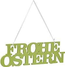 Enter-Deal-Berlin Schild Schriftzug - Frohe Ostern - 39 cm, grün