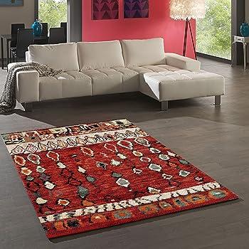 Tapis Chambre Berber Morocco Rouge 80 x 150 cm Tapis de Salon Moderne Design c62a46932e2