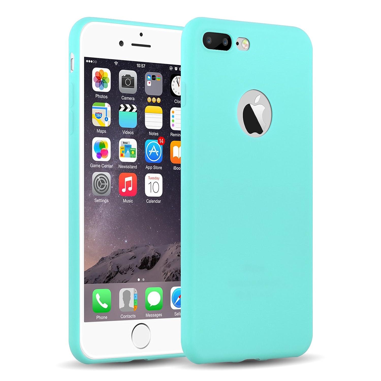 Cover iPhone Siliconata Verde Acqua