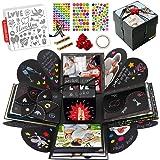 int!rend Explosion box | Scatola da sorpresa creativa con 5 modelli stencil | Regalo fai da te, scatola regalo per compleanno