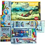 Doms Drawing Book + 12 Shade Water Colour Cakes + 12 Bicolour Pencils + 12 Oil Pastels + 12 Extra Long Wax Crayons + 12 Plast