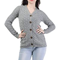 genric Women's Acrylic V-Neck Sweater (L)