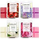 LA BELLEFÉE Fondants de Cire Parfumées Tartelettes Cire de Soja Naturelle pour Brûle Parfum, 24 Cubes Totaux (280g) (Jasmin,