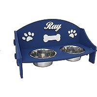 Supporto rialzato per ciotole cane/gatto personalizzato. Due (2) scodelle rialzate. Porta ciotole personalizzato. Dog…