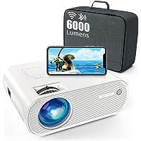 Vidéoprojecteur WiFi Bluetooth , 6000 Lumens TOPTRO Mini Projecteur Portable Supporte 1080P Full HD Rétroprojecteur…