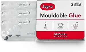 Sugru - Pasta Adesiva Modellabile, Bianco, 3 confezioni monodose