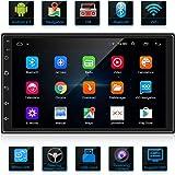 ANKEWAY Android 9,1 Radio de Coche 2 DIN Car Stereo 7 Pulgadas 1080P HD Pantalla Táctil+Llamadas Manos Libres Bluetooth+WiFi+