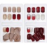 Künstliche Fingernägel, falsche kurze Nägel, 60 Stück, Nagelspitzen-Set, 12 Größen in 2 Boxen, komplett abdeckend, mit…