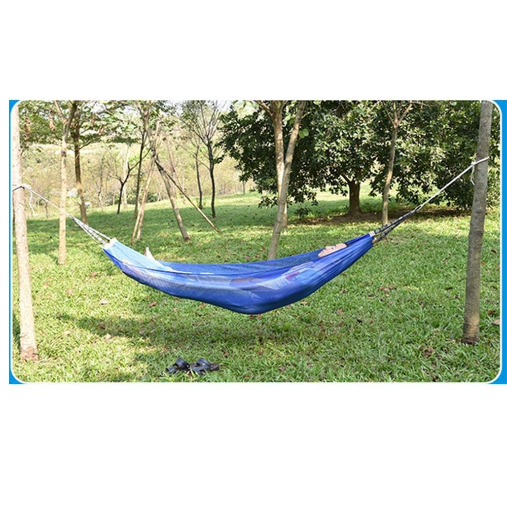 SEABECCA Amaca Outdoor Leisure Singolo Hammock Di Campeggio Del Ghiaccio Seta Beach Hammock , blue