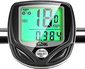 GiBot Fahrradcomputer Kabellos Drahtloser Wasserdichter Radcomputer mit Stoppuhr,16 Funktionen Geschwindigkeit Fahrradtacho, Radcomputer Tacho, Tachometer, Kilometerzähler, Hintergrundbeleuchtung LCD Display (Schwarz).