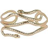 PPX Bracciale a Forma di Serpente a Spirale che si Avvolge Intorno al Braccio, Stile Egiziano, Colore: Toni Dell'oro