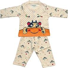Lilsugar Baby Boys Orange Full Sleeves Night Suit