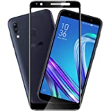 Hupshy Edge to Edge Curved Full Tempered Glass Screen Guard for Asus ZenFone Max Pro M1   Black  Pack of 1