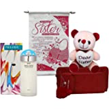 Saugat Traders Gift for Sister - Scroll Card, Soft Toy, Womens Perfume & Womens Wallet - Gift for Younger-Elder Sister On Rak
