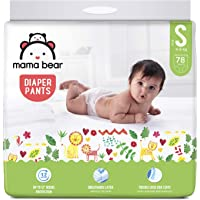 Amazon Brand - Mama Bear Baby Diaper Pants, Small (S) - 78 Count