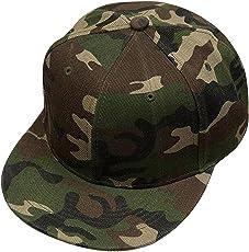 Krystle Unisex Cotton Army Hip-Hop Snapback Cap (Camouflage, Free Size)