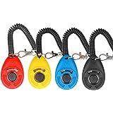 Diyife Clicker per Cani, [4 PCS, Multicolore] Formazione Clicker con Cinturino da Polso per Cane Gatto Cavallo.