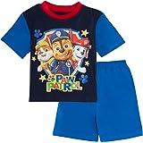 Paw Patrol Pijama corto para niños Chase Marshall Shortie pijama + camiseta de dormir