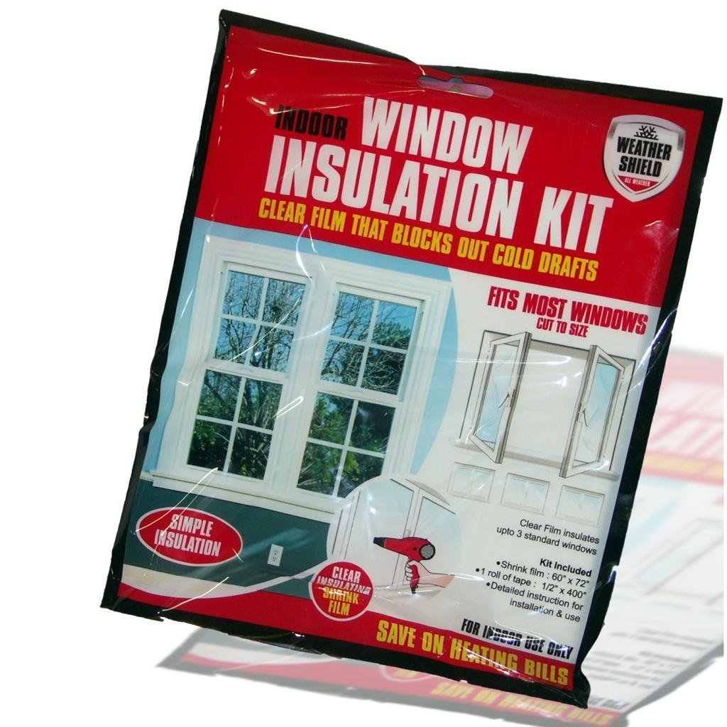 window shield home heating draft insulation kit excluder double
