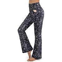 Promover Bootcut Yoga Donna a Gamba Larga con Tasche Pantaloni a Zampa Donna Elefante Elastici Yoga Pilates Danza…