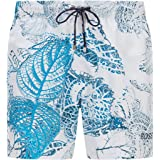 BOSS Womens Springfish Mountain-Print Swim Shorts in SEAQUAL™ Fabric
