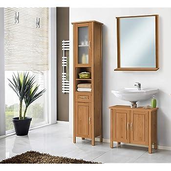 Vidaxl Teak Badmobel Waschbeckenunterschrank Waschtisch Wandspiegel