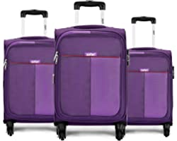 Safari Duo 4W 58 cm, 68 cm and 78 cm Purple Softsided Luggage Combo of 3