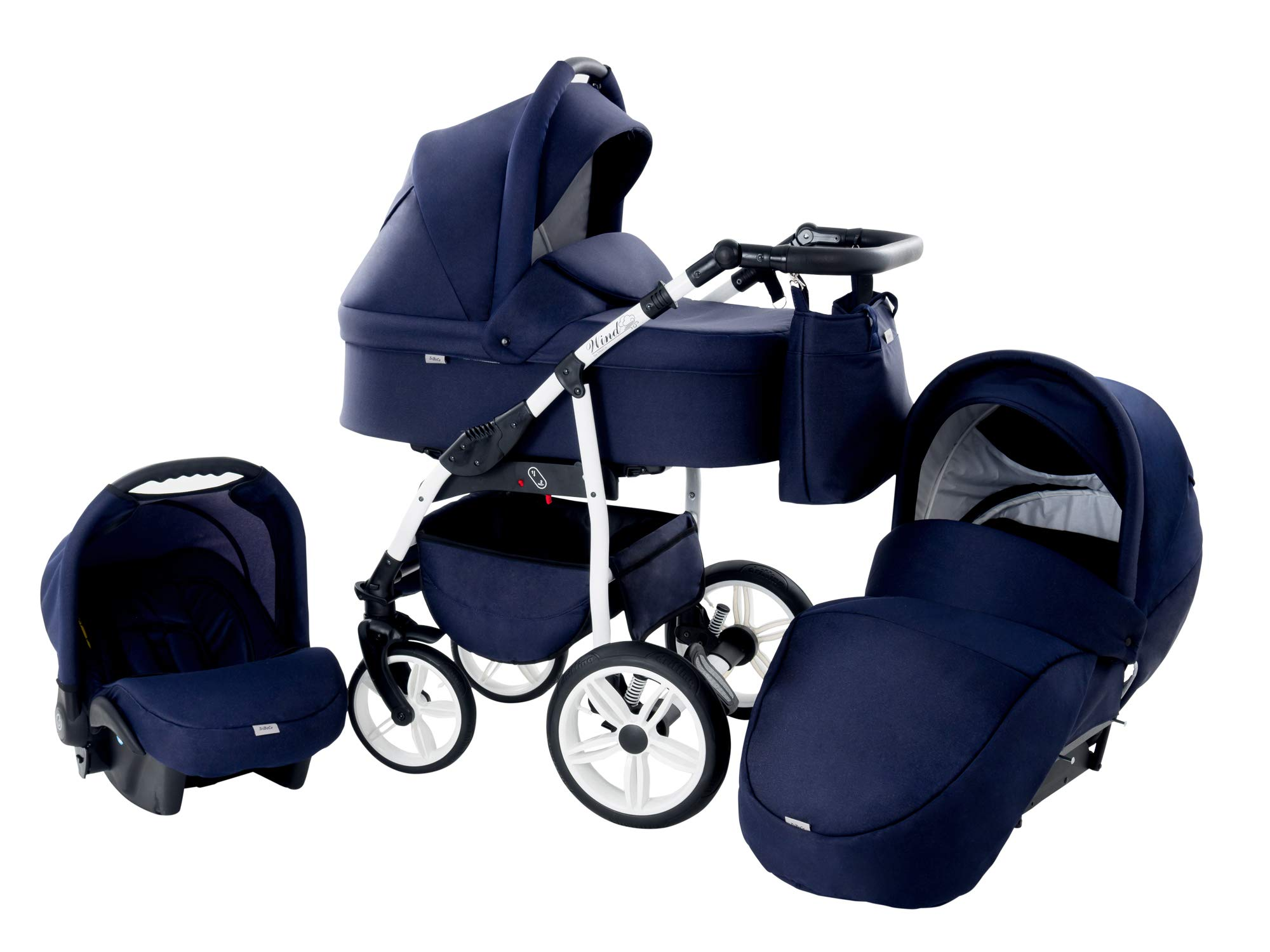 Baby Pram Zeo Wind 3in1 Set - All You Need! carrycot Gondola Buggy Sport Part Pushchair car seat (54) Zeo 3 in 1 combination stroller complete set, with reversible seat units to the buggy, child car seat or baby carriage The baby carriage is suitable for babies from 0 months to 3 years (0-15 kg) Has 360 ° swiveling wheels, four-fold suspension, four-stage backrest, five-position adjustable footrest and a five-point safety belt 1