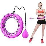ShinePick Hullahub Hoelabanden, instelbare brede fitnessbanden, fitnesshoepel met massagenoppen voor gewichtsverlies, voor vo