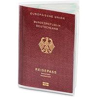 2 x Reisepasshülle für den NEUEN Reisepass (ab April 2017), dokumentenecht und transparent in reißfester Schutzhülle. Schützt Ihren Pass vor Wasser, Staub und Schmutz | Zwei Passport Holders im Set