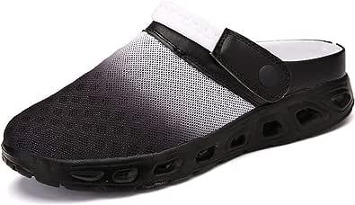 CCZZ Men Women Summer Breathable Clogs Shoes Slip on Beach Sandals Mesh Aqua Shoes Casual Slippers Water Shoes Amphibious for Unisex