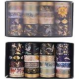 SUI-lim 20 RouleauxWashi Tape Doré Style Chinois Ancien Grue des Fées Ruban Scrapbooking Masking Decorative Tape Papier Wash